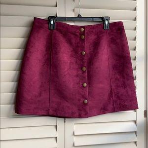 Purple Suede Old Navy Skirt